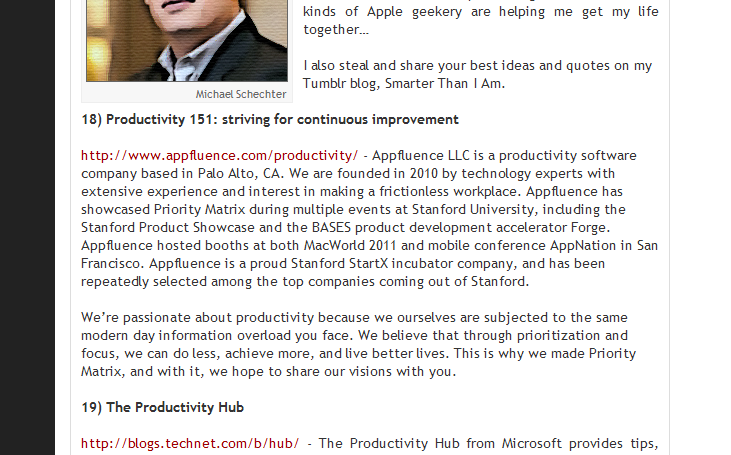 Top 18 Productivity Blog of 2012