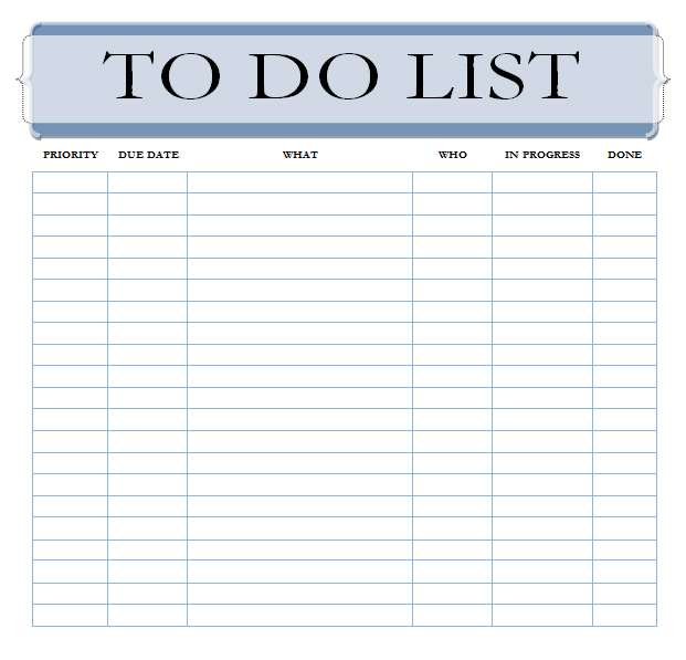 The Best To Do List Template - Unleash Your Productivity